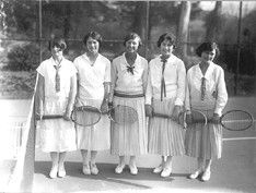 Vintage tennis anyone? Love the clothes ladies used to play in!