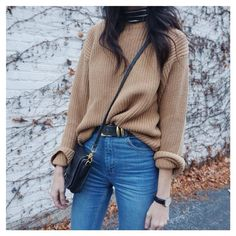 on the regular  #thrift sweater + @asos jeans. #ifyouseekstyle