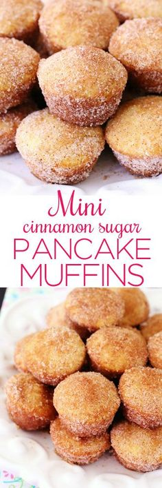 Mini Cinnamon Sugar Pancake Muffins