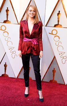 Emma Stone in Louis Vuitton   #Oscars 2018