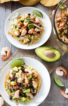 These avocado shrimp ceviche tostadas make the perfect weeknight meal. Succulent shrimp, buttery avocados, and lots of Mexican flavors make this a meal worth repeating.