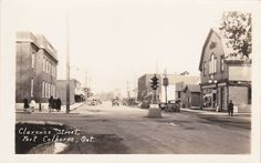 RP; PORT COLBORNE, Ontario, Canada, 1910-1920s; View Of Clarence Street