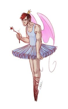 I remembered someone told me a kid thinks Dark looks like atooth fairy . . . . . Now that does not look horrifying at all ._.