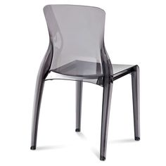 Crystal Contemporary Dining Chair in White