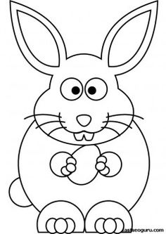 Printable Easter bunny coloring sheet for kids - Printable Coloring Pages For Kids