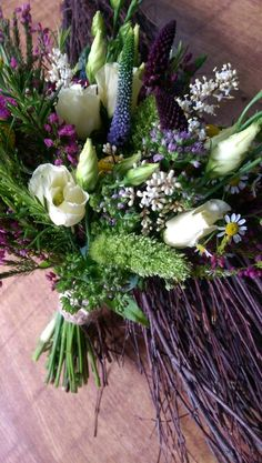 Wild country bouquet designed by Enchanted Florals in glastonbury.