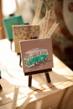 every last detail | wedding inspiration | wedding favors | escort cards | mini paintings | personalized favors