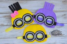 Minion mask party favors by MyWonderlandBoutique on Etsy