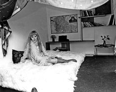 Marianne Faithfull in her flat in Lennox Gardens, London | 1967 | Photographed by Tony Gale via Faithfull Forever
