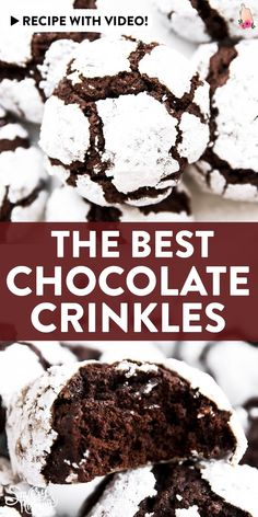 Dec 17, 2020 - Try these soft and chewy Chocolate Crinkle Cookies for Christmas this year - my simple recipe makes these the best easy treat for your holiday baking!