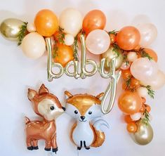 """Orange theme baby shower for a """"little cutie"""" babyshower Idee Baby Shower, Fiesta Baby Shower, Baby Boy Shower, Cute Baby Shower Ideas, Baby Shower Photo Booth, Baby Ideas, Baby Shower Decorations For Boys, Boy Baby Shower Themes, Baby Shower Balloons"""