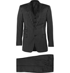 Ralph Lauren Purple LabelDrake Wool Three Piece Pinstripe Suit