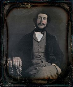 """This is my picture. Cyrus Cox,"" Scovill 1/6th-Plate Daguerreotype, Circa 1850"