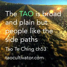The great TAO is broad and plain but people like the side paths - Tao Te Ching ch53  大道甚夷 而人好徑  #tao #dao #taoism #daoism #taocultivator #daocultivator #taoteching #daodejing #laotzu #laozi #yinyang #philosophy
