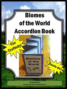 Teacher Classroom Science Craftivity Biomes Accordion Book via Etsy - This book could be purchased, but each student, or group, could also make their own biome accordion book. This is a fun way to condense important notes and facts into a fun and aesthetically appealing booklet.