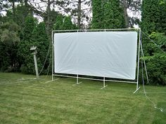 movie screen Build Your Own DIY PVC Outside Movie Theater - Project Guides