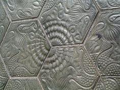 Sidewalk Tiles of Barcelona designed by Antoni Gaudi