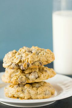 Oatmeal-Chocolate Chip Cookies from Brown-Eyed Baker