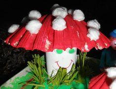 activité-manuelle-bricolage-automne-champignons-rouleau-coquillage-facile-enfants (1) Coquille St Jacques, Creations, Joy, Christmas Ornaments, Holiday Decor, Images, Woodland, Centre, Manual
