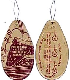 Prudential Insurance Advertising Sewing Needle Threader