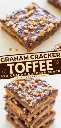 Need a dessert idea for your party? Graham Cracker Toffee Bars are sure to be a hit! Sweet and buttery, crunchy and chewy, Graham Cracker Crack is addictive. Everyone will be begging for this easy candy recipe! Easy Candy Recipes, Easy Desserts, Cookie Recipes, Delicious Desserts, Dessert Recipes, Graham Cracker Toffee, Graham Crackers, Toffee Bars, Biscuit Recipe