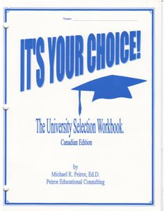 Our decision-making workbook for Canadian students considering Canadian universities.