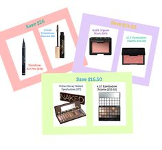 Beauty Splurge vs Save- Makeup you buy already, just get it for less
