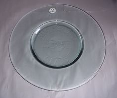 """Vidrios San Miguel 100% Recycled Glass Plate 19"""" Diameter Hand made Spain New"""