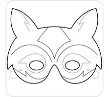 Fox mask template printable google search abc easy as 123 fox maskactivity and party favor maxwellsz