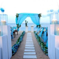 Find your perfect beach wedding venue. We feature beach wedding venues in the Cape, KwaZulu Natal and Eastern Cape. Your dream beach wedding venue. Blue Beach Wedding, Beach Wedding Reception, Beach Ceremony, Beach Wedding Decorations, Wedding Themes, Reception Seating, Bali Wedding, Night Beach Weddings, Marriage Reception