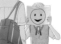 Image via We Heart It https://weheartit.com/entry/156882584/via/11219021 #anime #black #blackandwhite #book #dark #grunge #happy #japanese #life #manga #pain #pale #retro #sad #school #uniform #vintage #white
