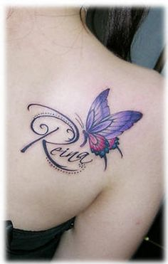 34 Best Butterfly Tattoos On Back Shoulder Images In 2017