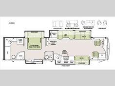 Floorplan - 2017 Tiffin Motorhomes Phaeton 40 QBH