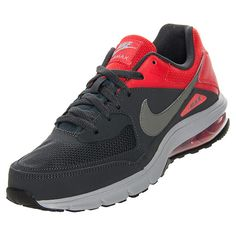 Men's Nike Air Max Vibes Running Shoes| FinishLine.com | Anthracite/Wolf Grey/Chilling Red