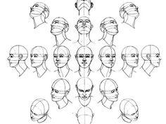 Resultado de imagen para escorzo de la cabeza humana