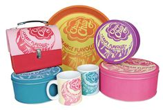 Chupa Chups licensed range from Half Moon Bay. Items range from cake tins and canisters to aprons and car air fresheners. www.halfmoonbay.co.uk