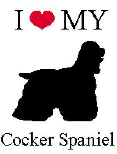 INSTANT DOWNLOAD Chella Crochet Pattern I love my Cocker Spaniel Dog Pattern  Afghan Graph Chart. .PDF