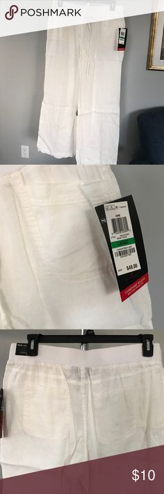 Style&Co Linen Pants Style&Co Linen pants with elastic waistband, and pockets both front and back. All prices are negotiable but please use the OFFER button in order to make me a different offer. I will do bundles just let me know what you are interested in but NO trades 😀 Style & Co Pants