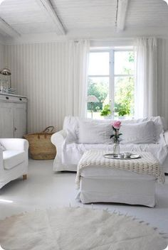 Shabby chic living space via Centsational Girl.