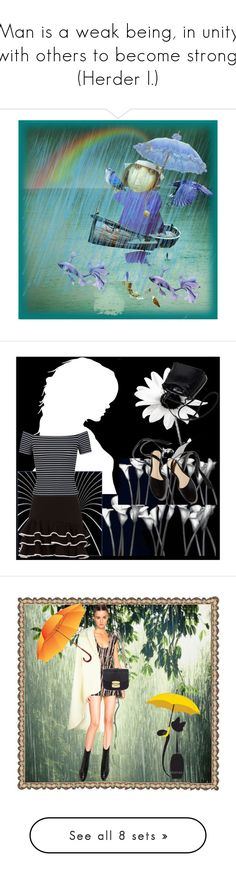 """""""Man is a weak being, in unity with others to become strong. (Herder I.)"""" by m-kints ❤ liked on Polyvore featuring art, april, Jonathan Simkhai, Miss Selfridge, black, Veil London, Roberto Cavalli, Oscar Tiye, Miu Miu and Spring"""