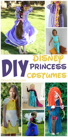We are all about Disney Prince costumes over here but check out these adorable DIY Disney Princess costumes I found! via @DesertChica