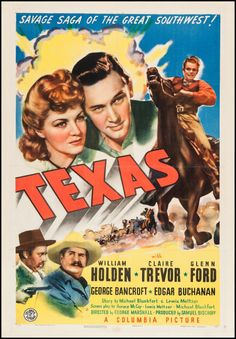 """Movie Posters:Western, Texas (Columbia, 1941). One Sheet (27"""" X 41""""). Western.. ... Image #1"""