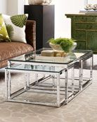 Shop Three-Piece Coffee Table at Horchow, where you'll find new lower shipping on hundreds of home furnishings and gifts. Home Decor Furniture, Cool Furniture, Home Furnishings, Furniture Design, Glass Top Coffee Table, Glass Table, Coffee Tables, Interior Decorating, Interior Design