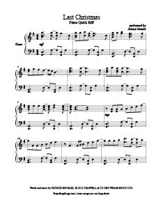 Last Christmas - Ariana Grande. Free piano sheet music at www.PianoBragSongs.com.