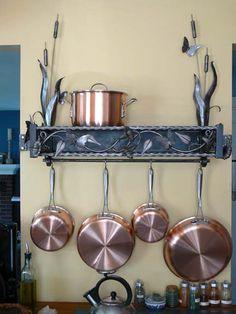 Stunning metal work to hang your pots