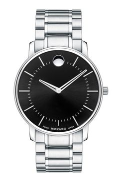 Movado Round Bracelet Watch; ok boys, you could do a lot worse than this.