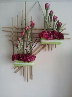 On a budget DIY projects pallet garden design ideas, indoor jungle, small . On a budget DIY Design Floral, Deco Floral, Arte Floral, Plant Wall, Plant Decor, Flower Crafts, Flower Art, Plant Shelves, Small Space Gardening
