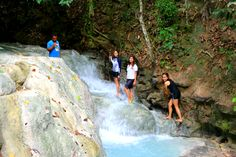 Pictures while trekking the 5 levels of Aguinid Waterfalls