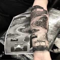 Risultati immagini per formula 1 tattoo You are in the right place about Formula 1 Tattoo ideas Here Daddy Tattoos, Weird Tattoos, Life Tattoos, Body Art Tattoos, Tattoos For Guys, Cool Tattoos, Law Tattoo, Home Tattoo, Chicano Tattoos Sleeve