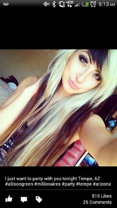 Blonde Brown Straight Hair - Hairstyles and Beauty Tips Emo Scene Hair, Emo Hair, Hair Color And Cut, Cool Hair Color, Brown Straight Hair, Natural Hair Styles, Long Hair Styles, Dream Hair, Hair Today